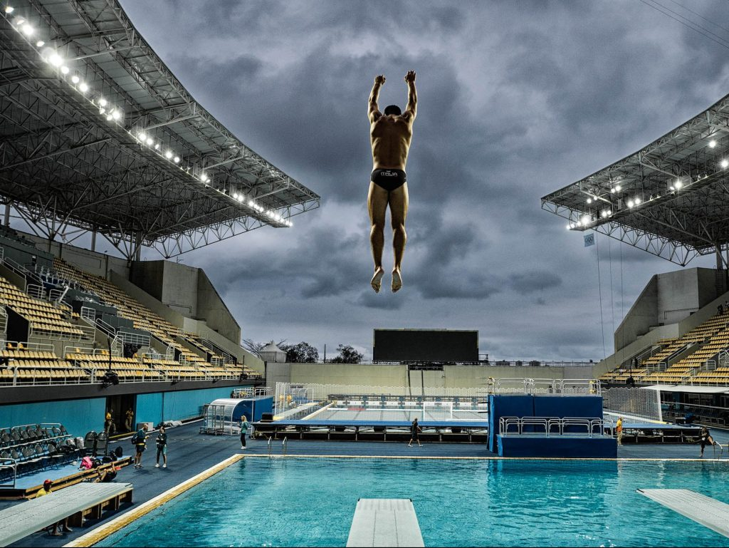 The Torch Is Burning showcases Olympic sports photography at Art Ventures Gallery in Menlo Park