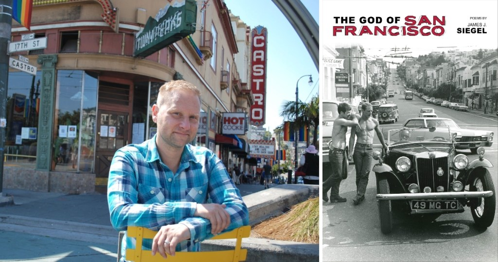 Poet James J. Siege reads from his book The God of San Francisco on June 23