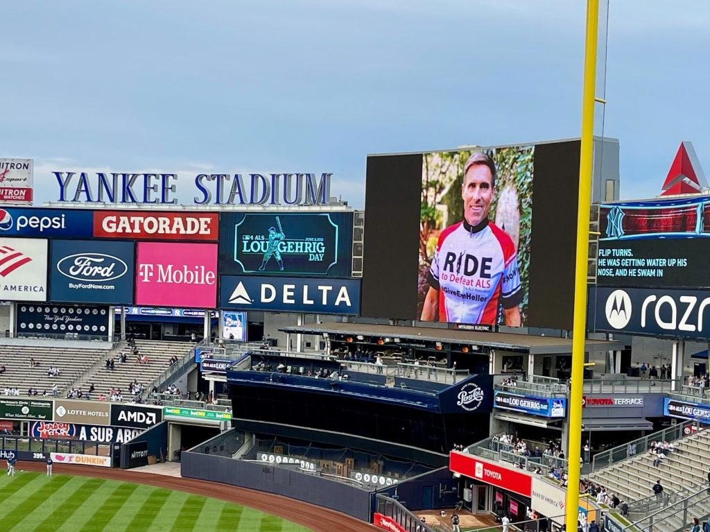 Spotted: Kevin Heller on the Jumbotron at Yankee Stadium