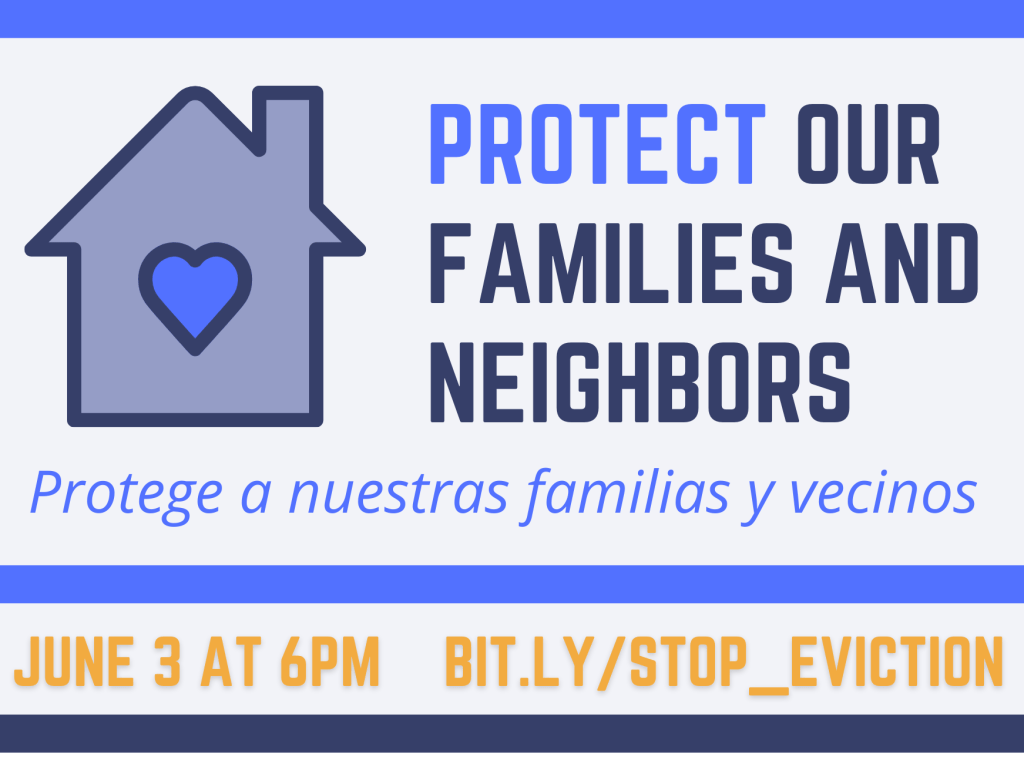 Community Equity Collaborative sponsors program about protecting families from eviction on June 3