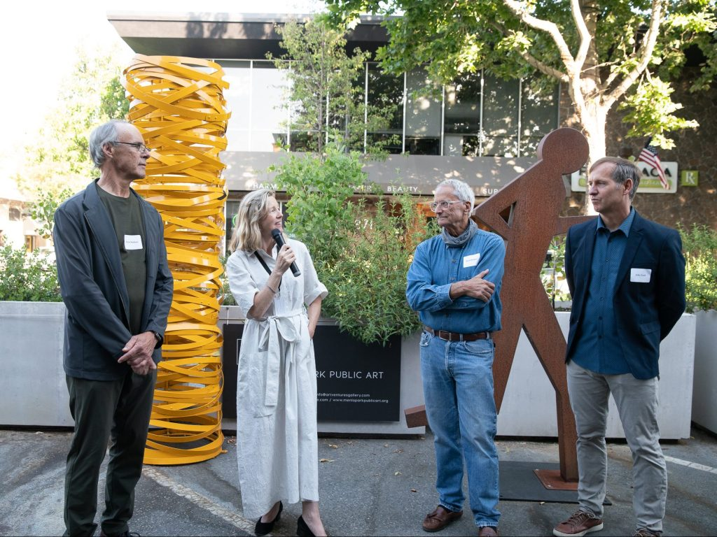 Olympics come to downtown Menlo Park – photographically speaking
