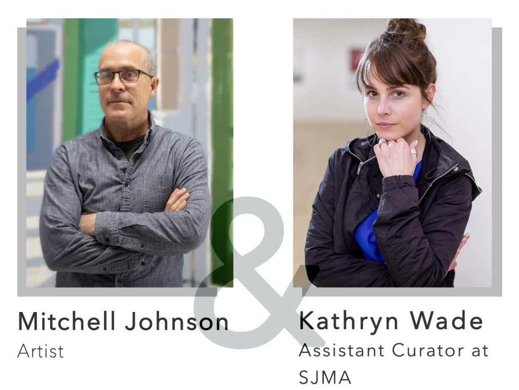 Artist Mitchell Johnson in conversation with curator Kathryn Wade on June 11