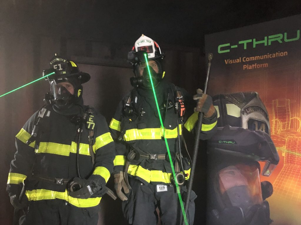 Local firefighters are first in nation to use hands-free thermal imaging technology