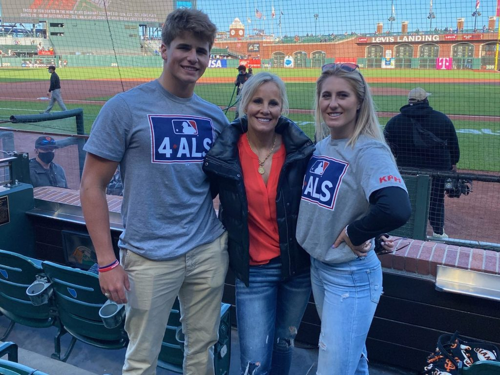 Spotted: Heller family at Lou Gehrig Day at Oracle Park