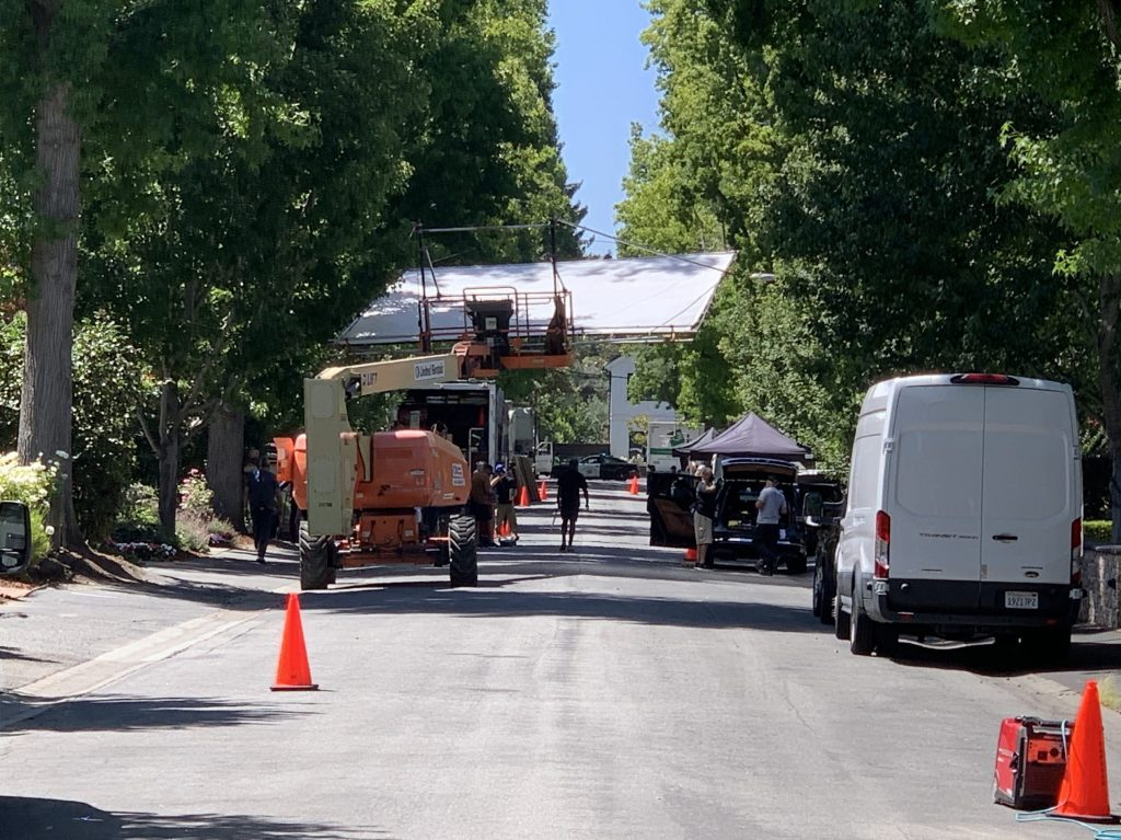 Spotted: Commercial being filmed in Menlo Park