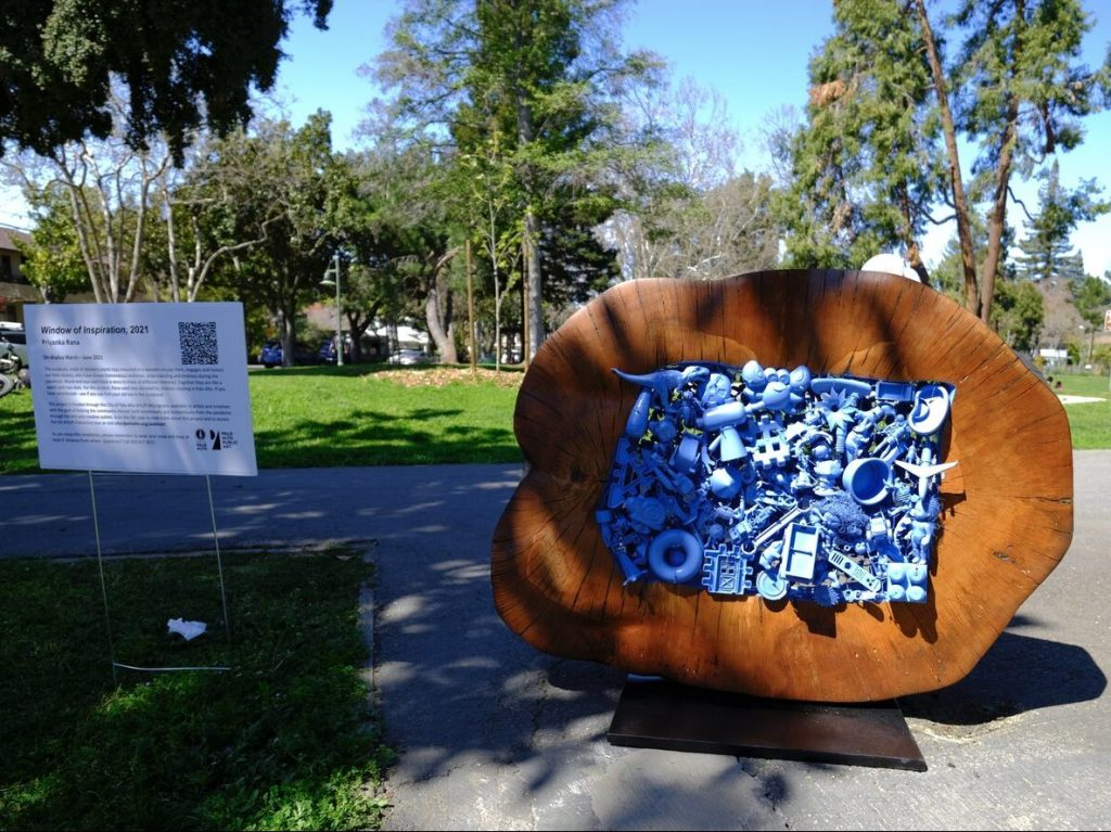Latest additions to Silicon Valley Sculpture 2021 on Menlo College campus