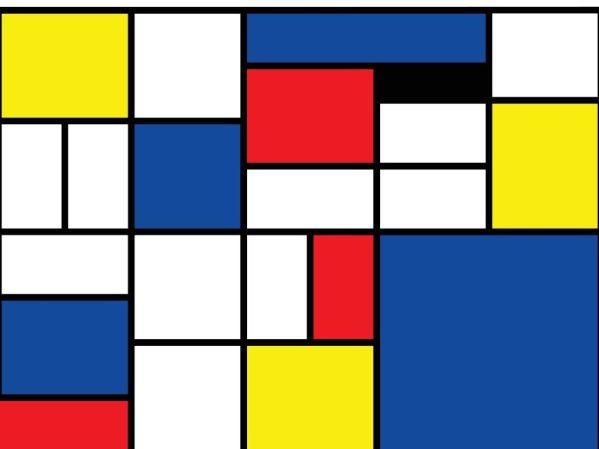 Paint like Mondrian on July 22