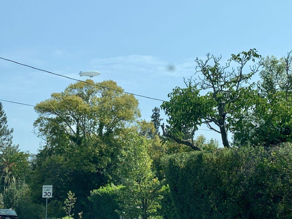Spotted: Blimp over Menlo Park