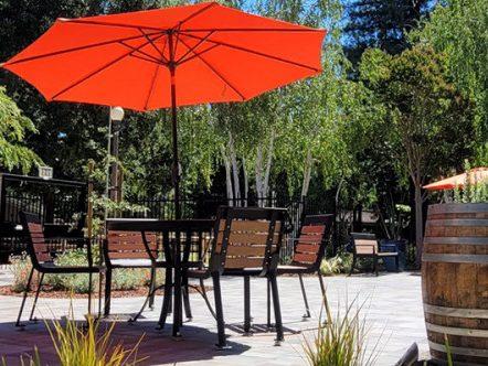 Outdoor patio now open at Menlo Park Library