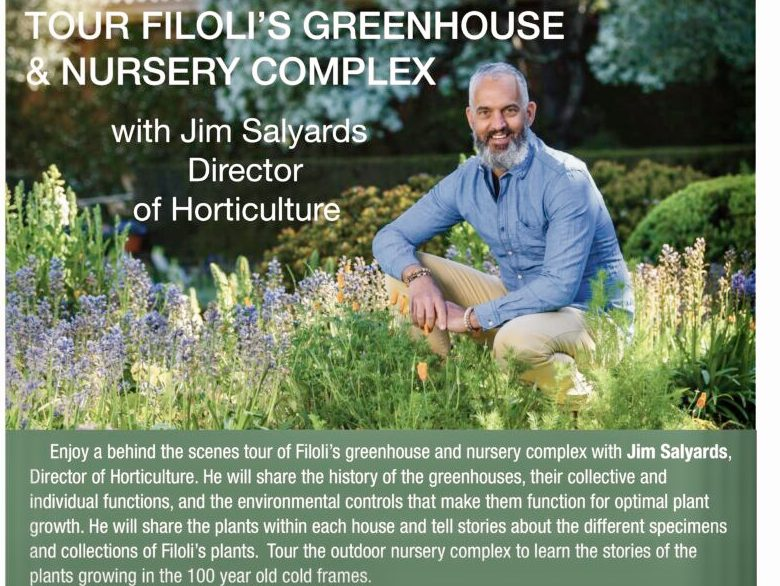 Woodside's First Friday offers tour of Filoli's greenhouse and nursery complex