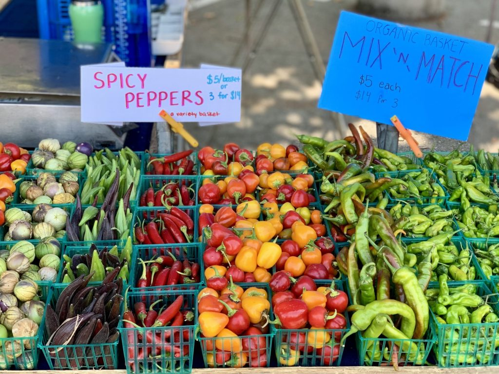 Spotted: Colorful peppers at Menlo Park Farmer Market