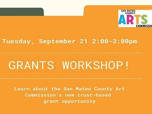 Grant workshop for non-profit arts & cultural organization on September 21