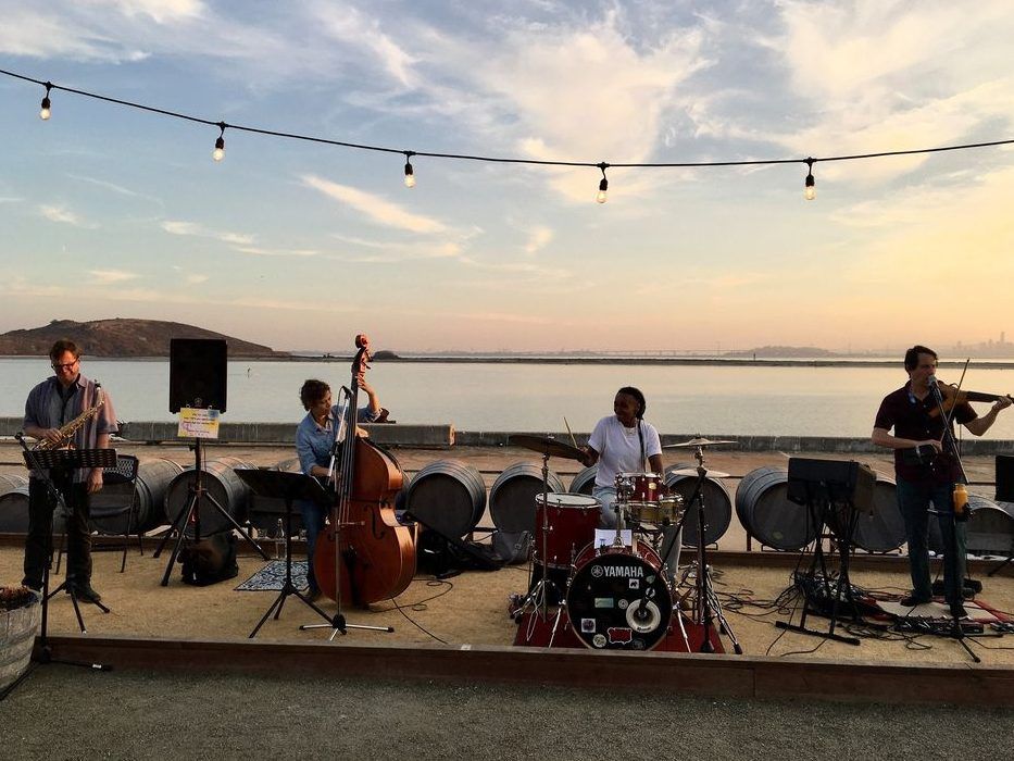 Adrian West Band performs a Dala's Nest house concert on October 10