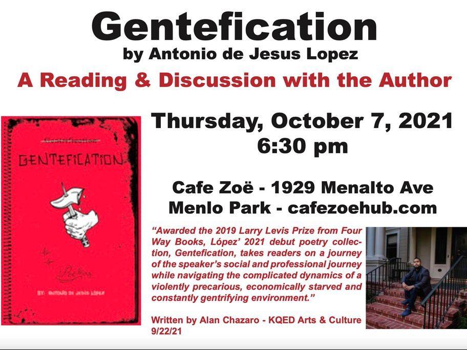 Cafe Zoë welcomes author Antonio de Jesus Lopez on October 7