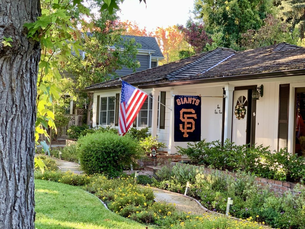 Spotted: Giants flag on Cotton Street
