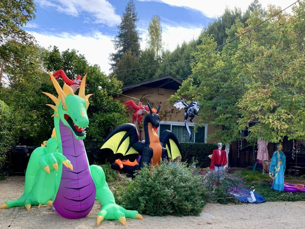 Neighborhood walk in Menlo Park yields dragons and jewelry