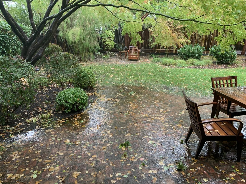 And the rain just keeps pouring down over Menlo Park