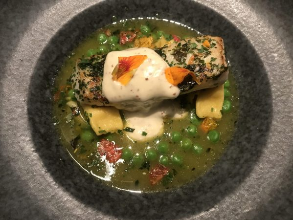 Spotted: Halibut as pretty as it tastes at Flea Street