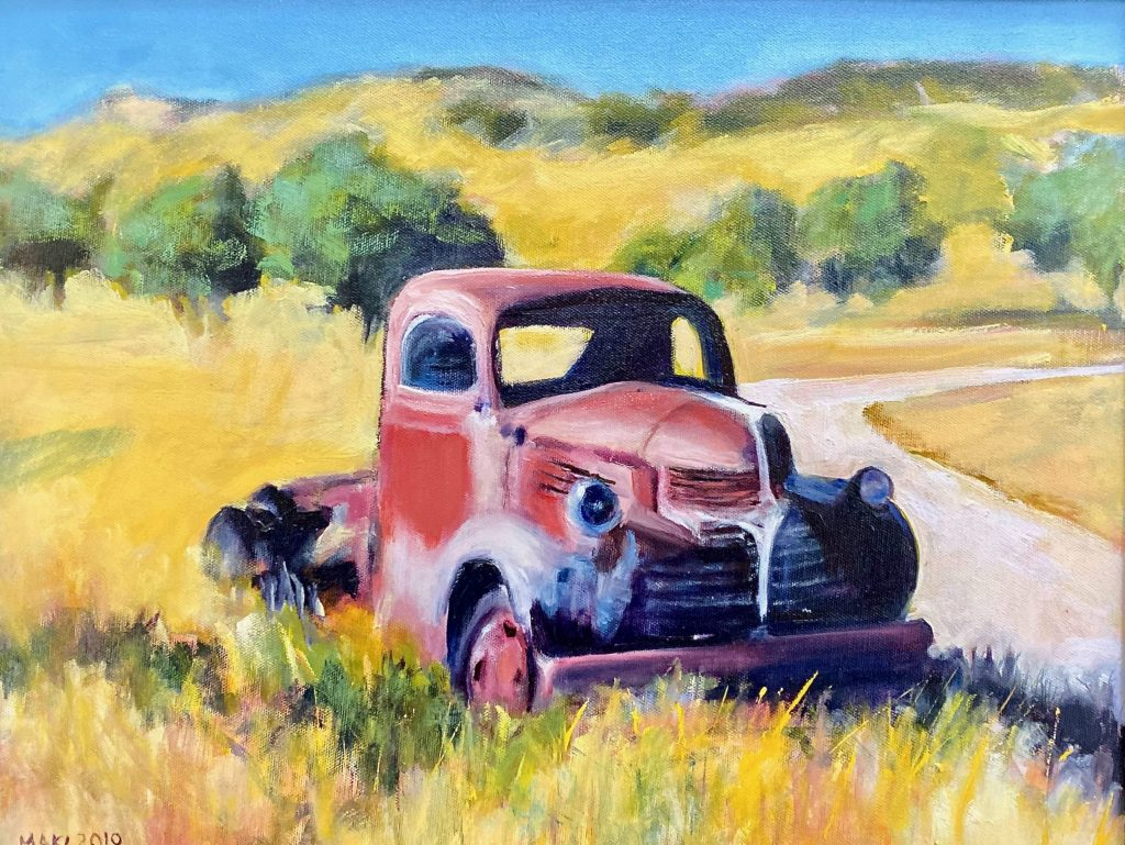 Artist Linda Maki is fascinated by old trucks – and sweets in a row