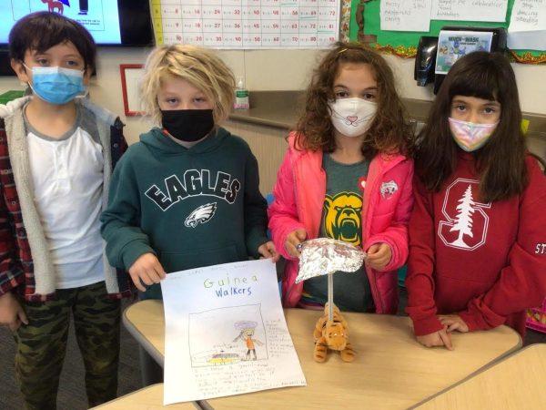 Laurel School third graders design umbrellas for pets using new science curriculum