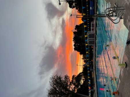 What a different Sunday sunrise just a week ago at Burgess Pool