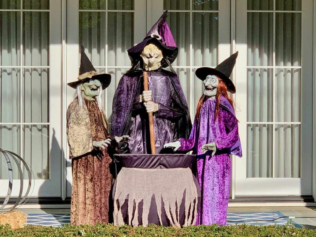 Spotted: Three witches brewing up a potion